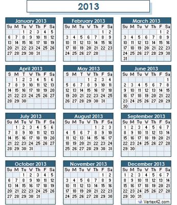 Year-2013-calendar