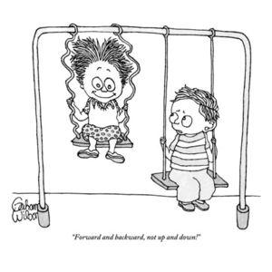 Gahan-wilson-forward-and-backward-not-up-and-down-new-yorker-cartoon
