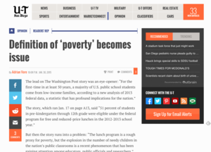 Definition of 'poverty' becomes issue in story   UTSanDiego.com