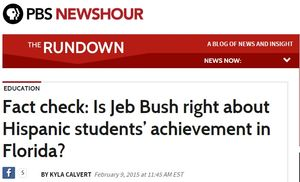 Fact check  Is Jeb Bush right about Hispanic students' achievement in Florida