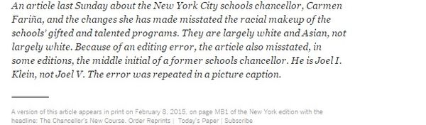 Chancellor Carmen Fariña Changes New York City Schools' Course   NYTimes.com