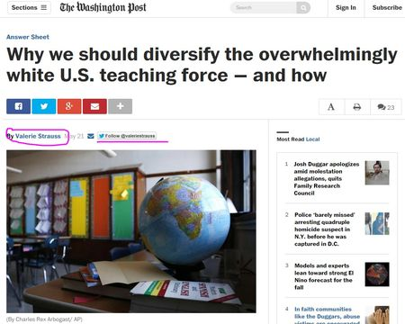 Why we should diversify the overwhelmingly white U.S. teaching force — and how The Washington Post