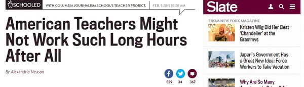 Teaching time  A new study finds that American teachers don t actually work much longer hours than their international peers.